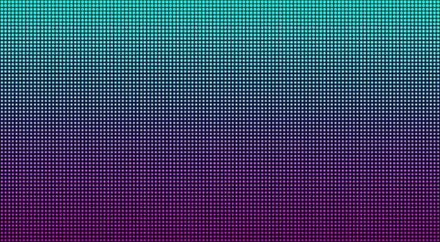 Ecran Led. Texture De Pixel. Affichage Numérique. Illustration Vecteur Premium
