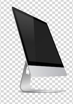Écran d'ordinateur moderne avec écran noir.
