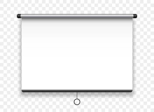 Écran de projection suspendu tableau de présentation réaliste