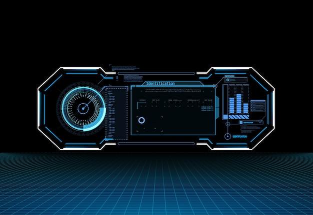 Écran de technologie de réalité virtuelle d'affichage du tableau de bord