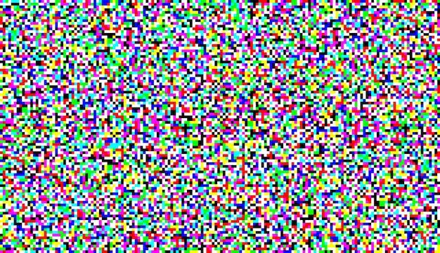 Écran de télévision bruit pixel glitch texture background vector illustration
