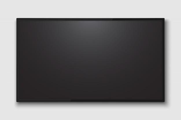Écran de télévision réaliste. panneau de télévision moderne lcd avec match de football