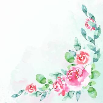 Écran de veille floral aquarelle aux couleurs pastel