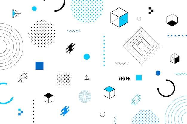 Écran de veille de formes géométriques design plat