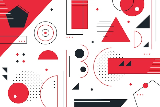 Écran de veille de formes géométriques plates