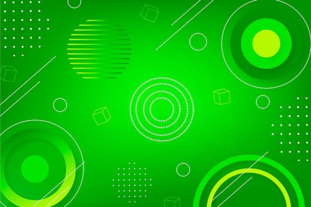 Écran de veille géométrique abstrait vert