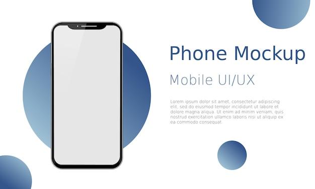 Écran vide de smartphone. modèle d'appareil. modèle moderne