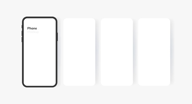 Écran vide de smartphone, téléphone. écran de téléphone de style carrousel. modèle