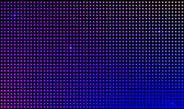 Écran vidéo mural de vecteur avec lumières à points
