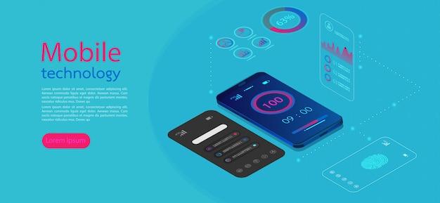 Écrans mobiles infographie moderne.
