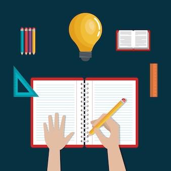 Écriture d'apprentissage, école d'icônes de l'éducation