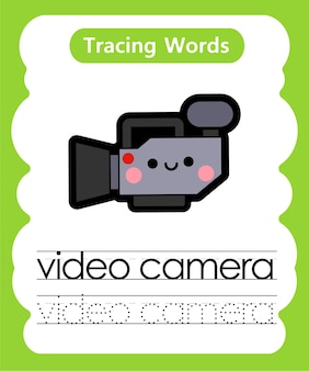 Écriture de mots pratiques de traçage de l'alphabet v - jeu vidéo