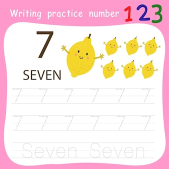 Écriture pratique numéro sept