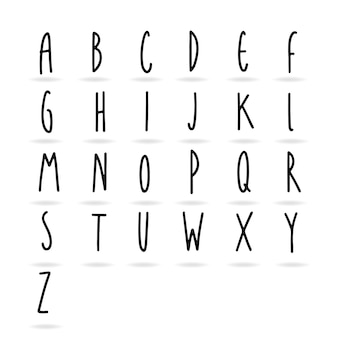 Écriture simple mignonne un élément de conception alphabet à z