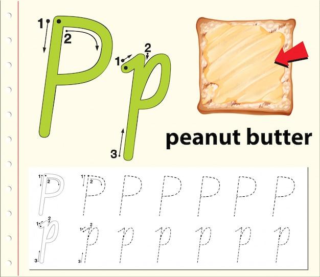 Écrivez la lettre p anglaise