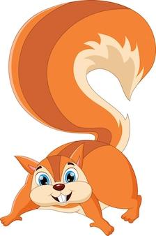 Écureuil de dessin animé posant