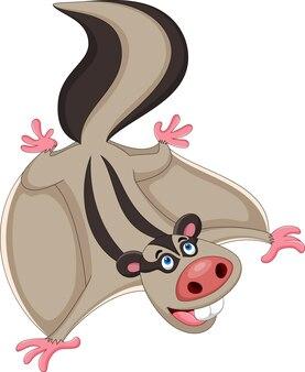Écureuil de dessin animé volant