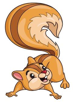 Écureuil mignon dessin animé