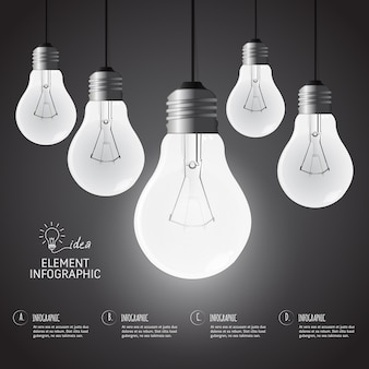 L'éducation ampoule infographique creativeconcept design.