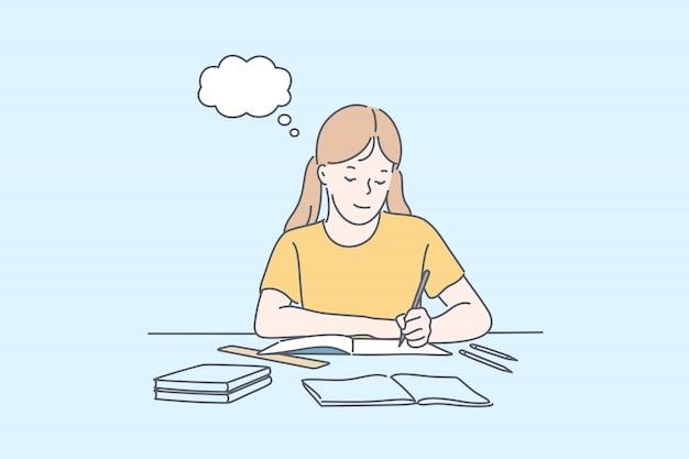 Éducation, apprentissage, concept d'école