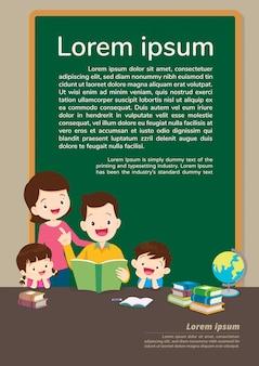 Éducation et apprentissage, concept d'éducation avec fond de famille