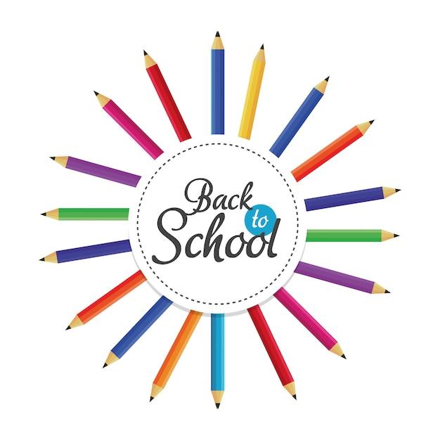 Education crayons couleurs fond élémentaire