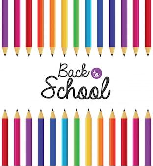 Éducation crayons couleurs fond ustensiles