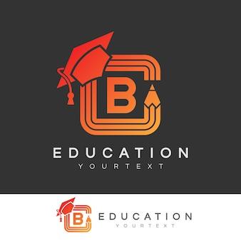 Éducation initiale lettre b logo design