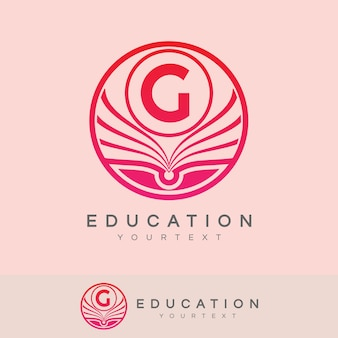 Éducation initiale lettre g logo design