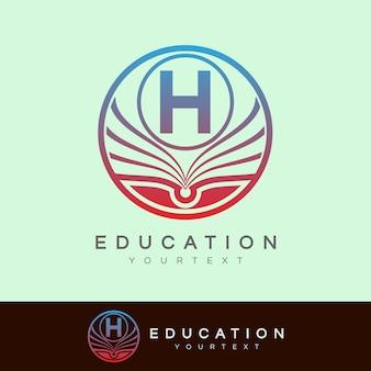 Éducation initiale lettre h logo design