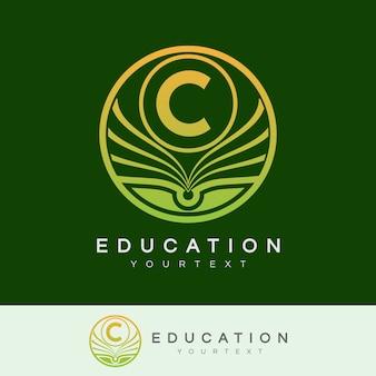 Éducation initiale lettre c logo design