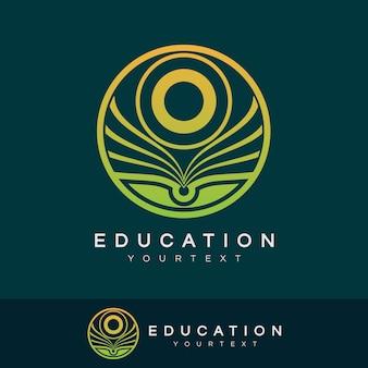 Éducation initiale lettre o logo design