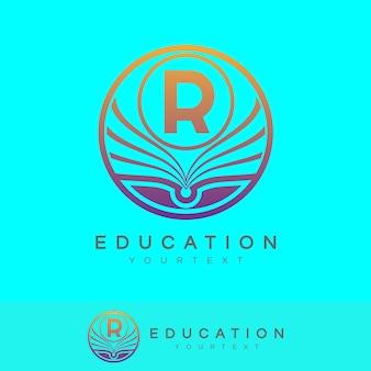 Éducation initiale lettre r logo design