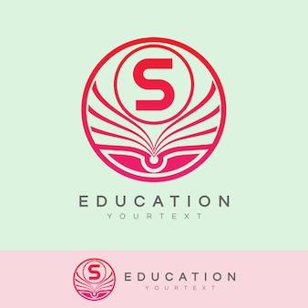 Éducation initiale lettre s logo design