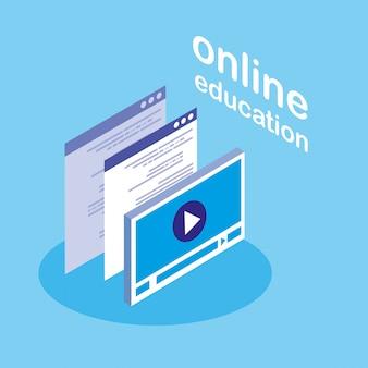 Education en ligne avec afficheur multimédia