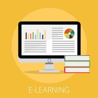 Éducation en ligne et concept de bibliothèque numérique