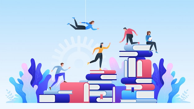Éducation en ligne. enseignement à distance, cours en ligne, éducation, livres et manuels en ligne