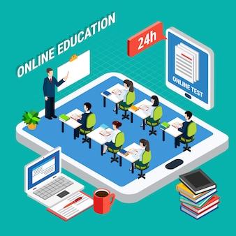 Éducation en ligne isométrique