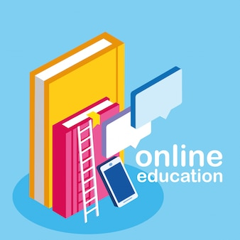 Education en ligne avec smartphone et ebooks