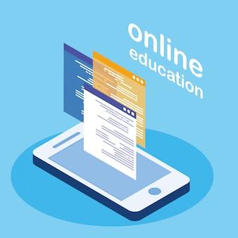 Education en ligne avec smartphone