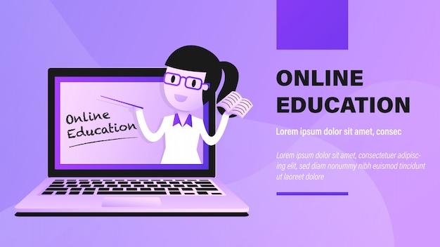 Éducation en ligne.