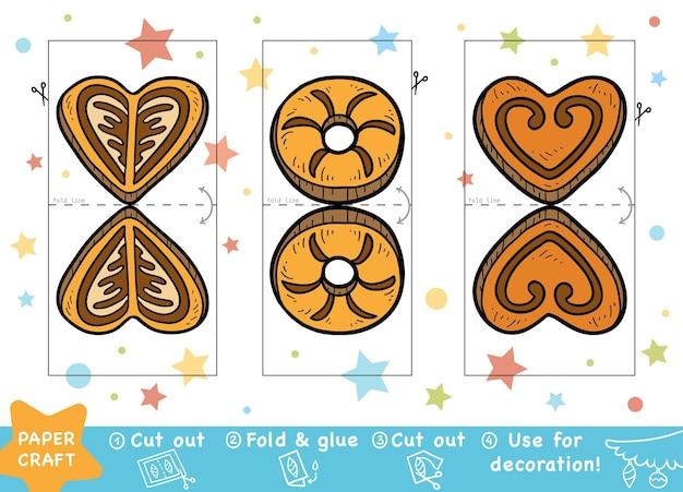 Éducation papier de noël artisanat pour les enfants biscuits de noël