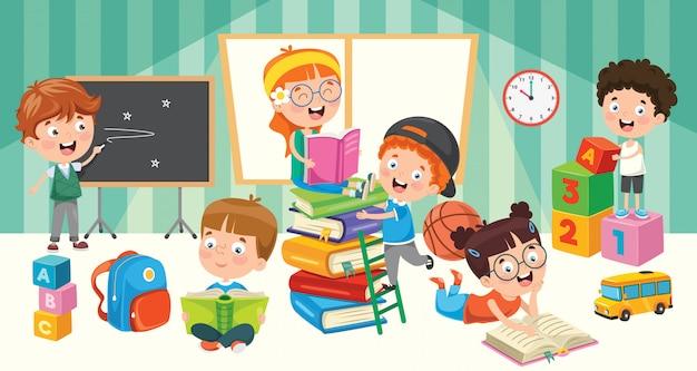 Education de petits élèves