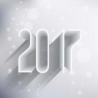 Effet 3d 2017 style de texte avec l'ombre