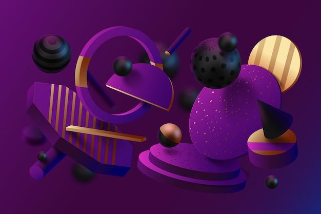 Effet 3d abstrait des formes texturées fond