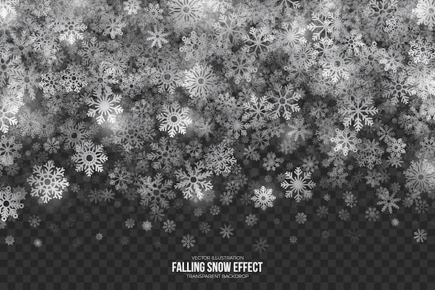 Effet 3d de bordure de neige en chute