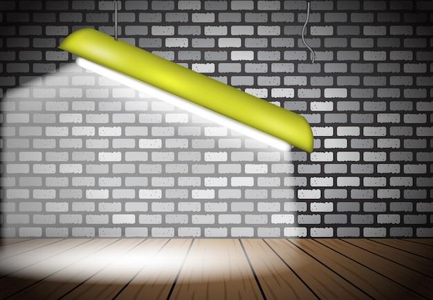 Effet 3d fond abstrait de la lampe d'éclairage