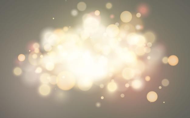 Effet bokeh brillant. fond lumineux magique festif. conception de vacances pour noël.