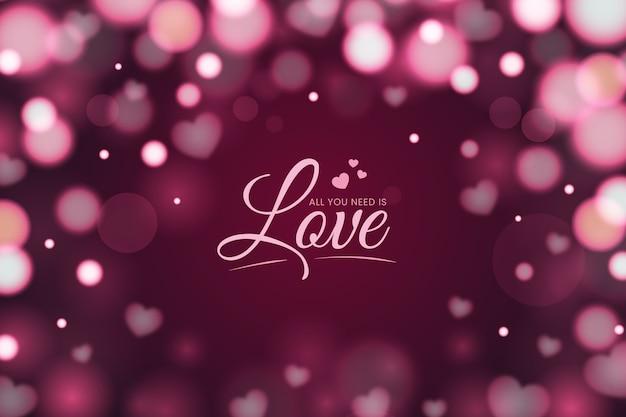 Effet bokeh fond de la saint-valentin