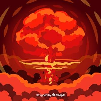 Effet de bombe nucléaire style plat